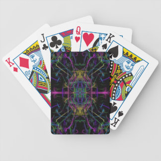 Space geometric drawing bicycle playing cards