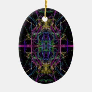 Space geometric drawing christmas ornament