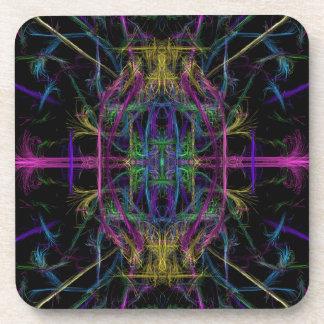 Space geometric drawing coaster