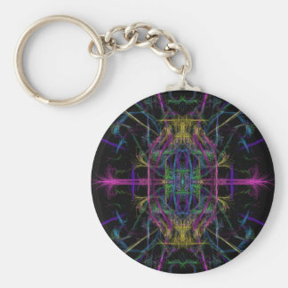 Space geometric drawing key ring