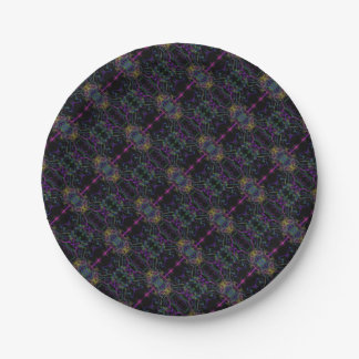Space geometric drawing paper plate