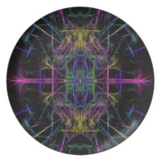 Space geometric drawing plate