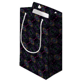 Space geometric drawing small gift bag