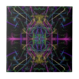 Space geometric drawing tile