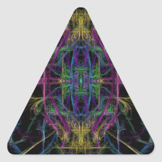 Space geometric drawing triangle sticker