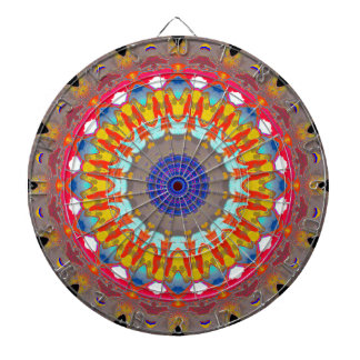 Space Girl Mandala Dartboard