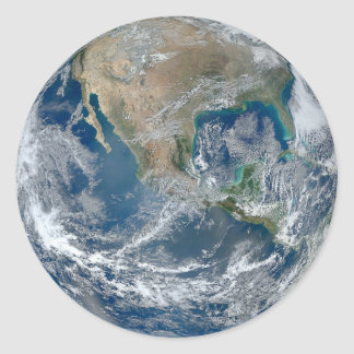 Space globe North America stickers