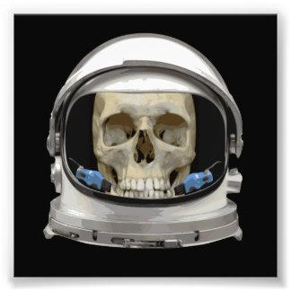 Space Helmet Astronaut Skull Photo Print