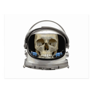 Space Helmet Astronaut Skull Post Cards