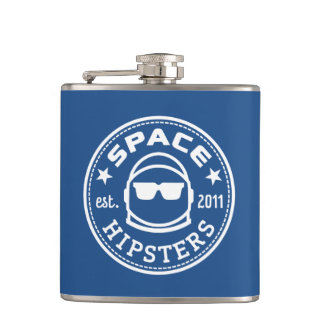 Space Hipsters Logo Flask! Hip Flask