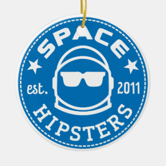 Space Hipsters Logo Porcelain Ornament
