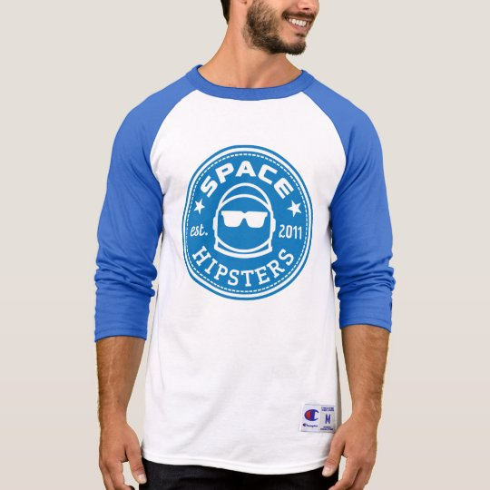 Space Hipsters® Men's Logo 3/4 Sleeve Jersey Shirt