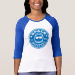Space Hipsters® Women's Logo 3/4 Sleeve Jersey Tshirts