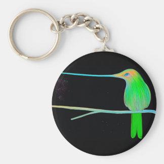 Space Humming Bird Key Chains