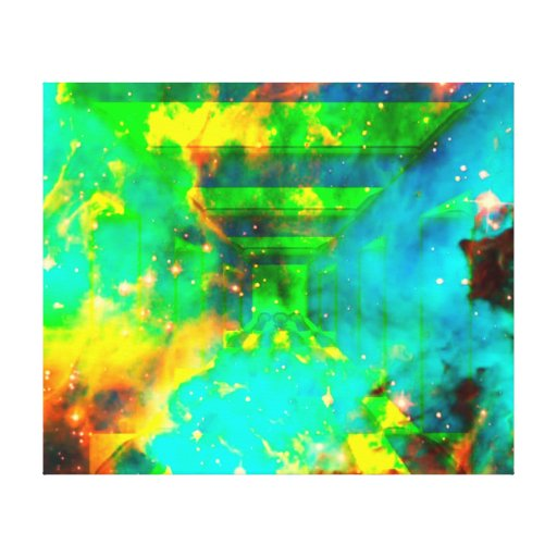space in universe in hall stretched canvas prints
