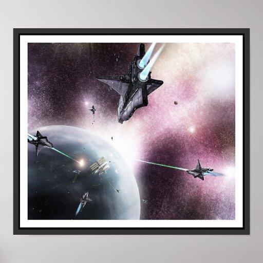 Space Invasion Print
