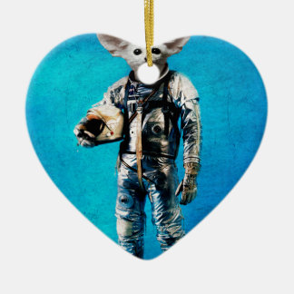 space is calling blue christmas ornament