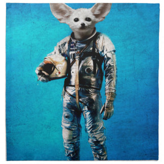 space is calling blue napkin