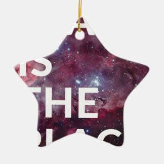 Space Is The Place Fun Big Planet Christmas Ornament