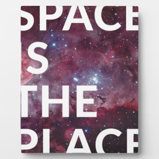 Space Is The Place Fun Big Planet Plaque