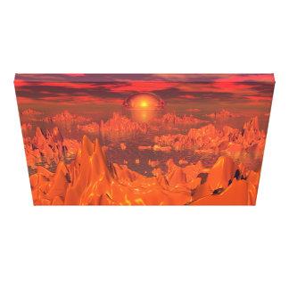 Space Islands of Orange Gallery Wrap Canvas