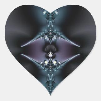 Space Jewelry Heart Sticker
