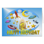 Space Journey 6th. Birthday Card