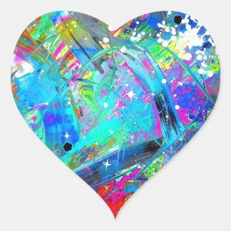 Space Juice Heart Sticker