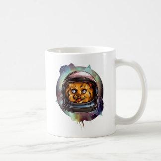 Space Kitty will boldly go..... Basic White Mug