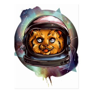 Space Kitty will boldly go..... Postcard