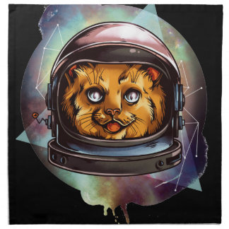 Space Kitty will boldly go..... Yes, it's a ginger Printed Napkin