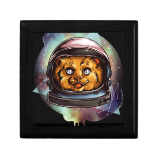Space Kitty will boldly go..... Yes, it's a ginger Small Square Gift Box