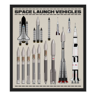 Space Launch Vehicles Poster