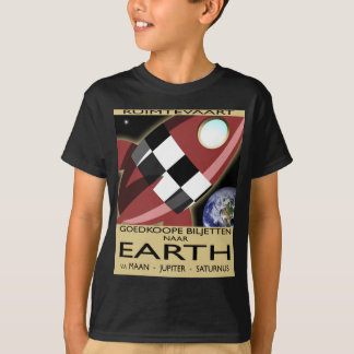 Space Liner Advertisement Tee Shirts