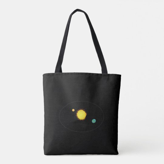 Space look design tote bag