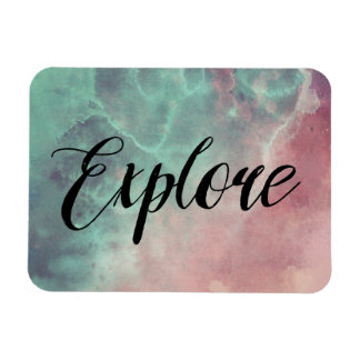 Space Magnet, Explore the Galaxy Rectangular Photo Magnet