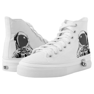 Space Man High Tops (White)