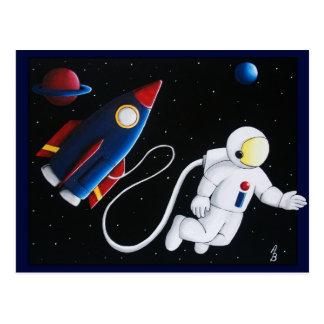 Space Man Postcard