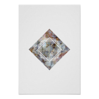Space Marble Geometric Poster