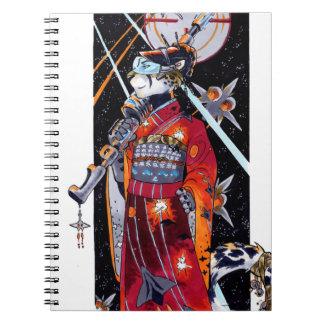 Space Marine Kimono Jaguar Notebook! Spiral Notebook
