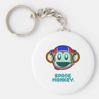 space monkey basic round button key ring