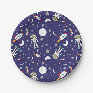 Space Monkey Paper Plates 7 Inch Paper Plate