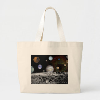 space montage large tote bag