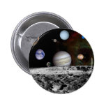 space montage pinback button