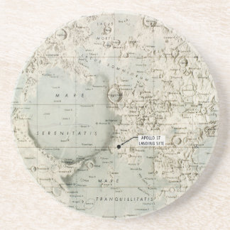 SPACE: MOON MAP, 1972 COASTER