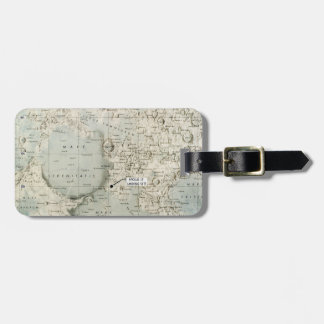 SPACE: MOON MAP, 1972 LUGGAGE TAG