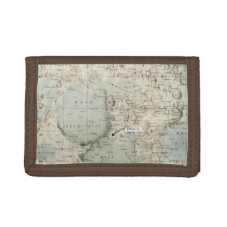 SPACE: MOON MAP, 1972 TRIFOLD WALLET