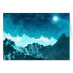Space Mountains Greeting Card