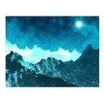 Space Mountains Postcard