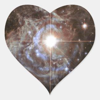 Space Nebula - Cepheid Variable Star RS Puppis Heart Sticker